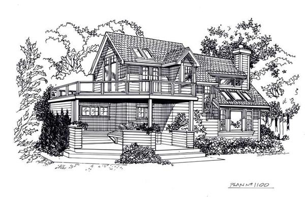 House Plan RX-1100 Line Drawing