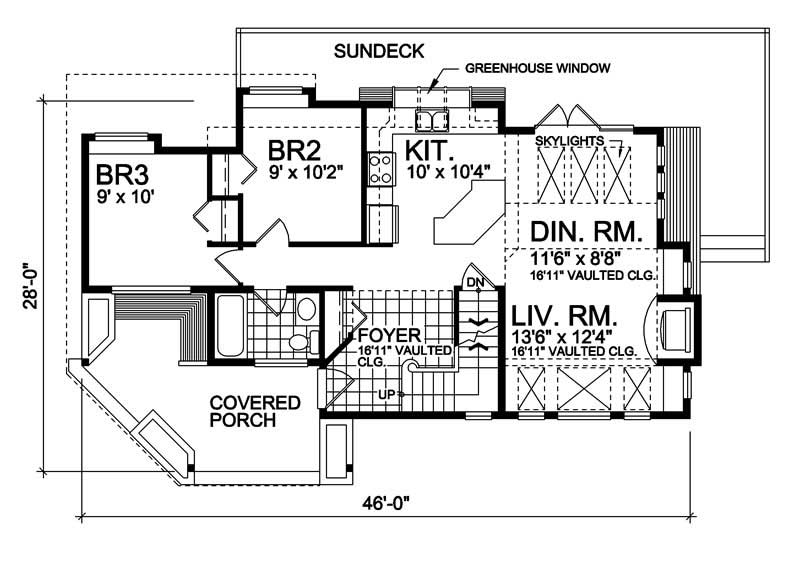 House Plan RS-1100 Main Floor Plan