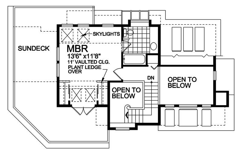 House Plan RS-1100 Second Floor Plan