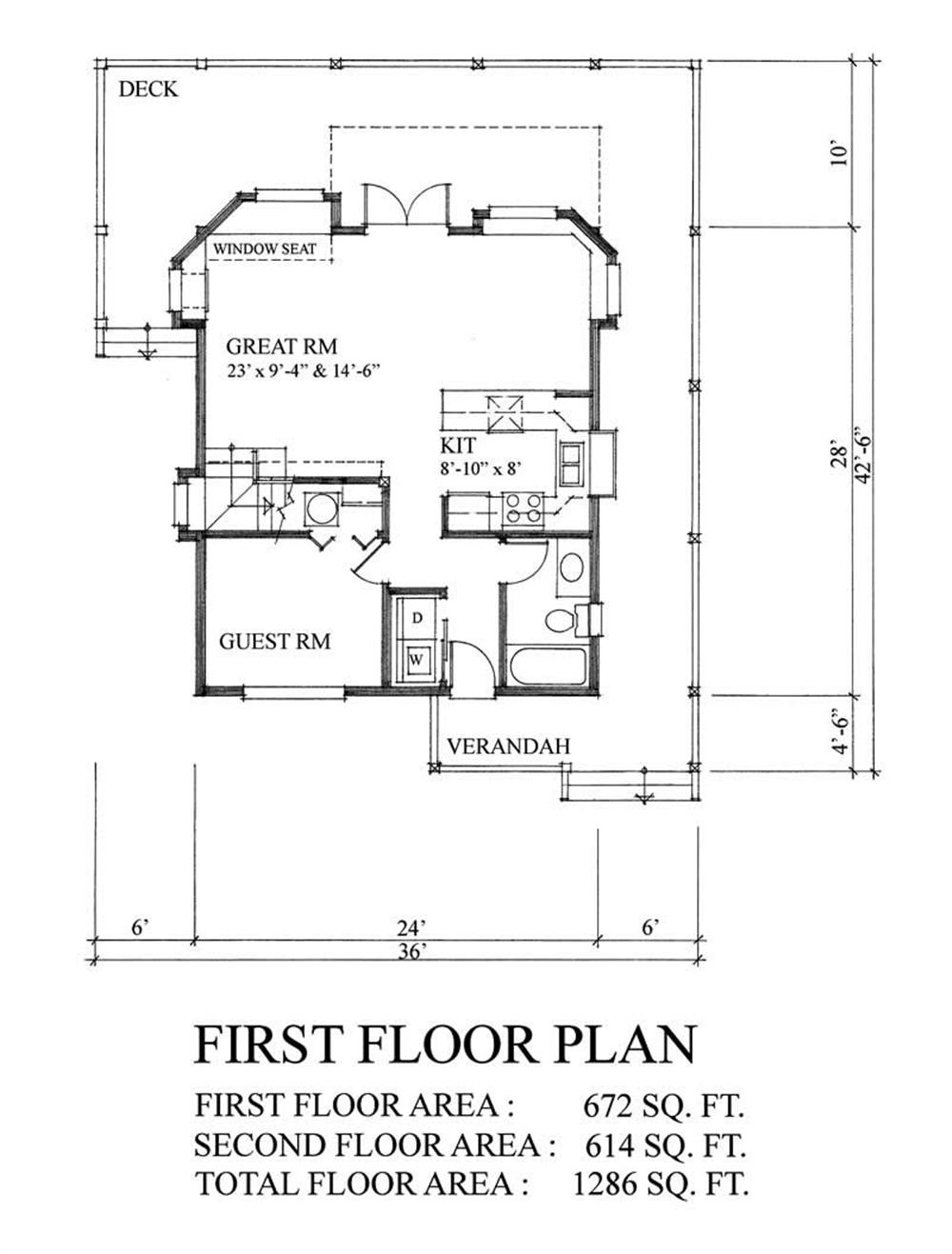 House Plan RS-1286 Main Floor Plan