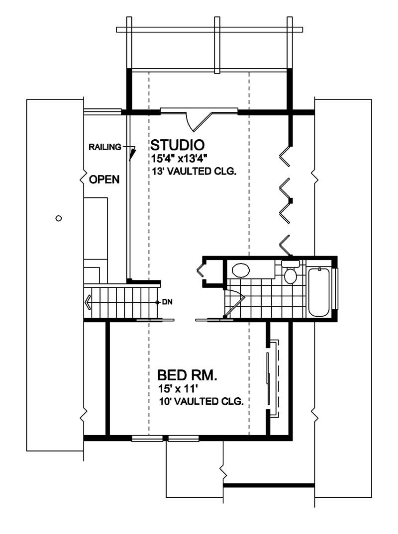 House Plan RS-1333 Second Floor Plan