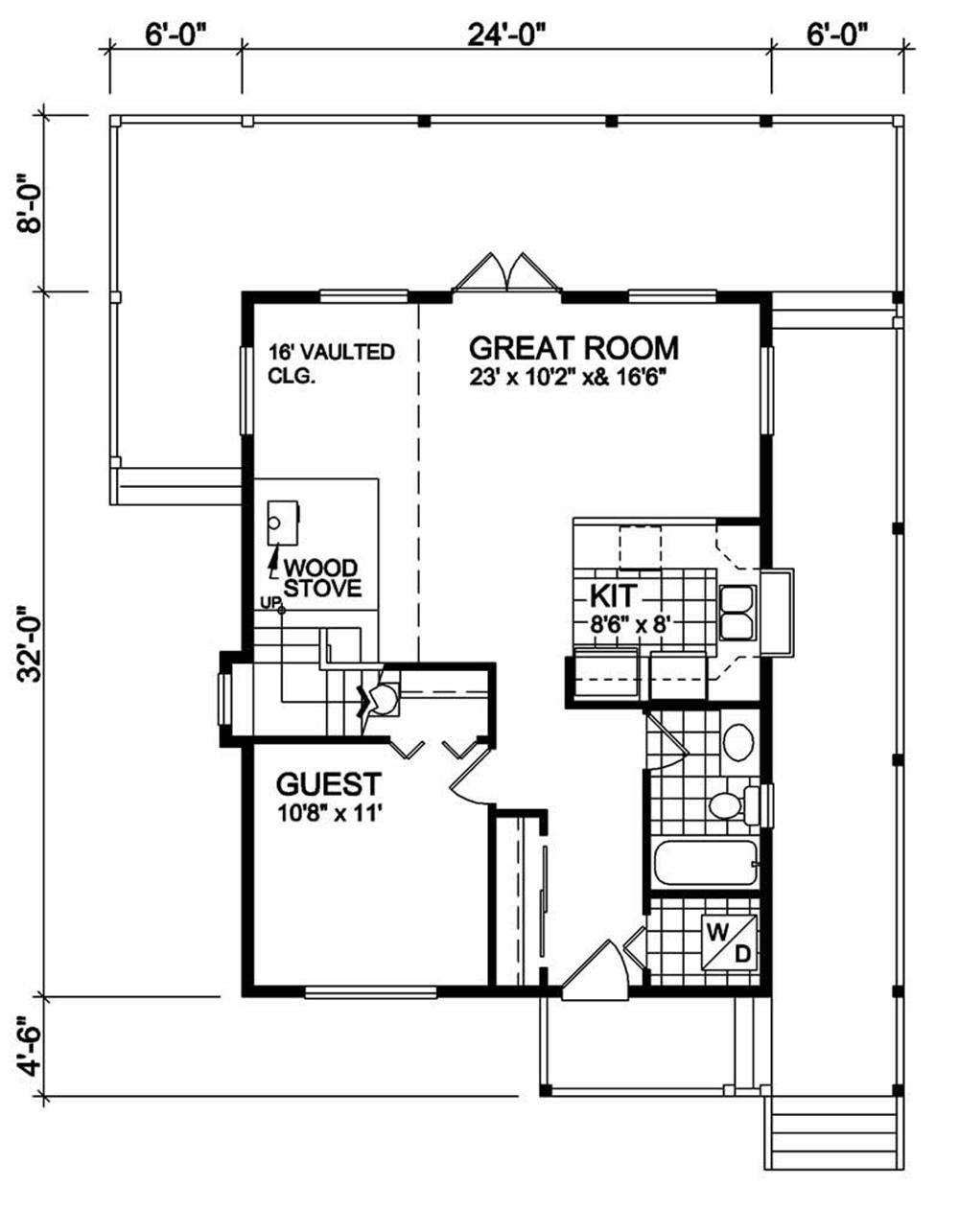 House Plan RS-1333 Main Floor Plan