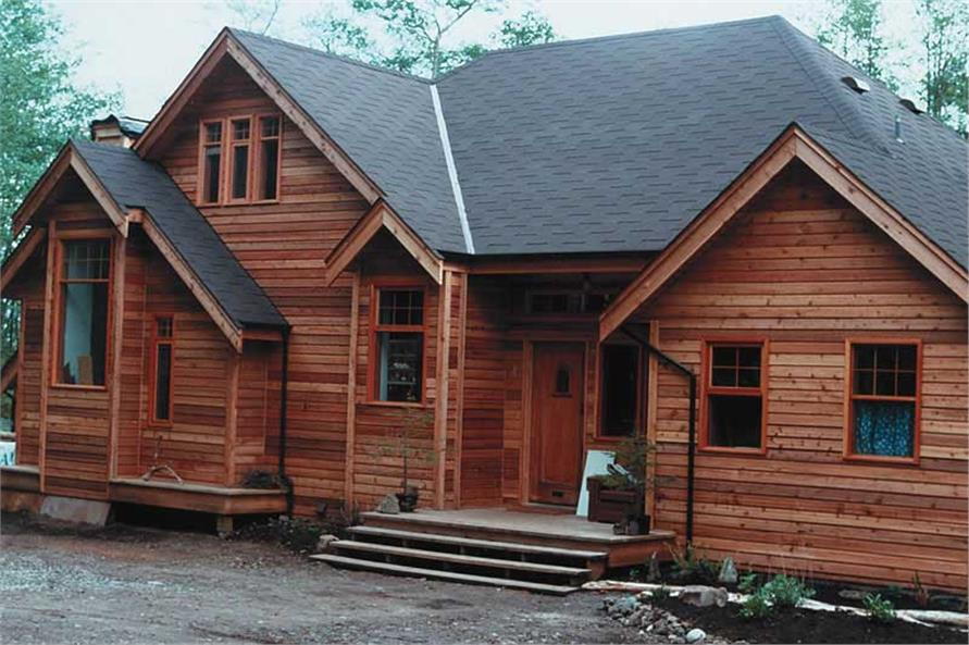 2-Bedroom, 1470 Sq Ft Log Cabin Home Plan - 160-1012 - Main Exterior