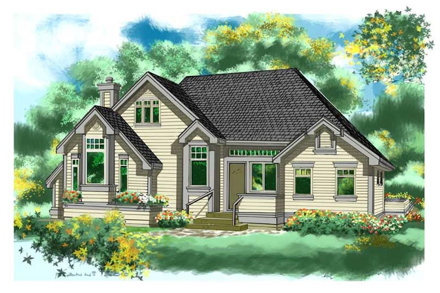 Home Plan Rendering of this 2-Bedroom,1470 Sq Ft Plan -160-1012
