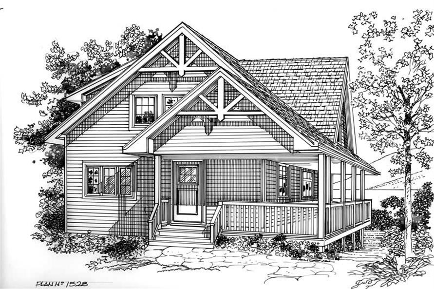 Home Plan Rendering of this 5-Bedroom,1550 Sq Ft Plan -160-1013