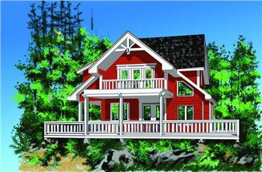 2-Bedroom, 1904 Sq Ft Log Cabin Home Plan - 160-1014 - Main Exterior