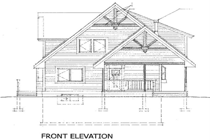 House Plan RS-1904 Rear Elevation