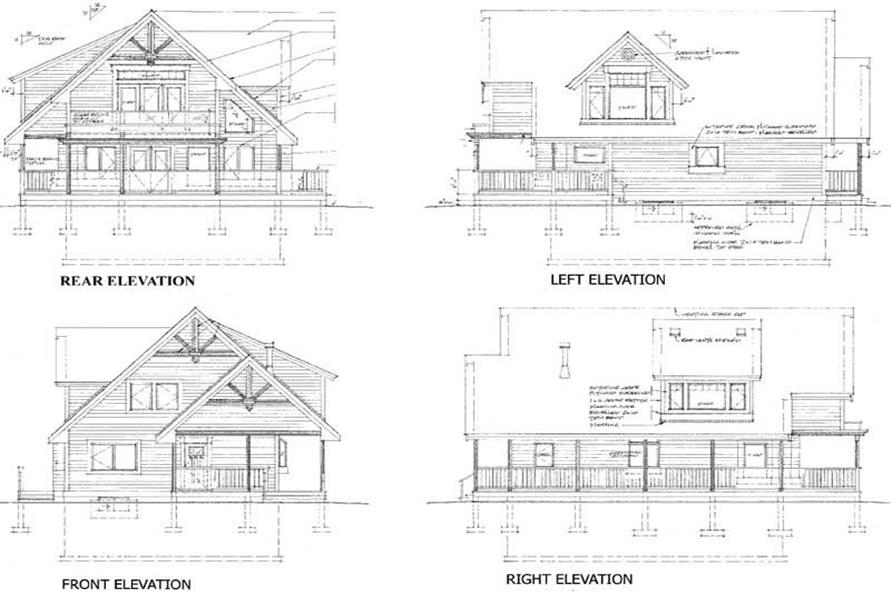 House Plan RS-1904 All Elevations