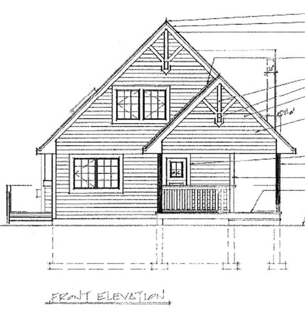 House Plan RS-1370 Rear Elevation