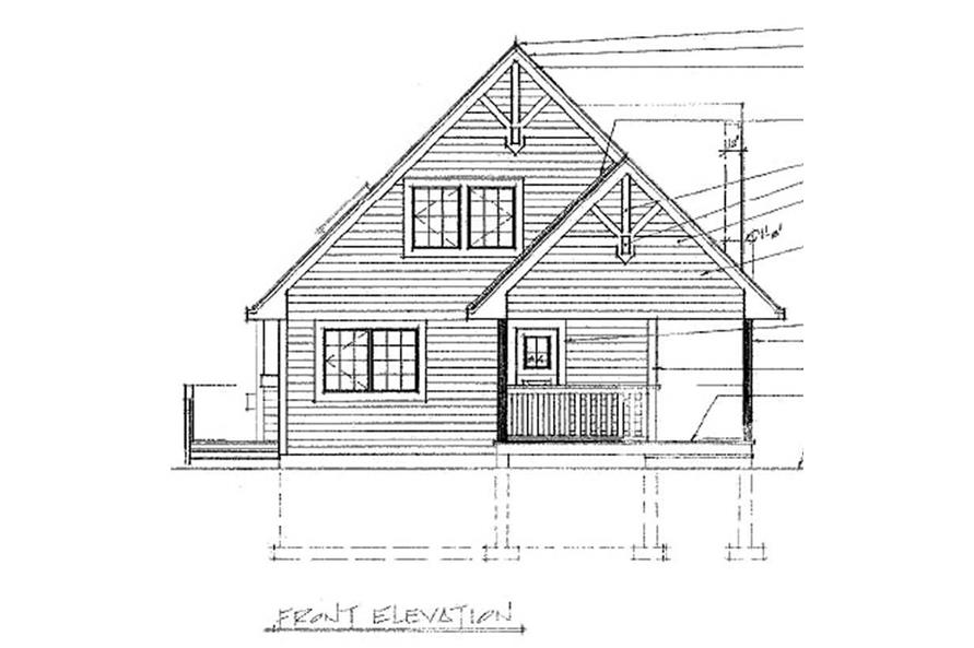 Home Plan Rear Elevation of this 3-Bedroom,1370 Sq Ft Plan -160-1015