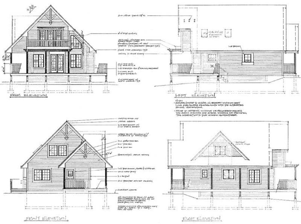 House Plan RS-1370 All Elevations