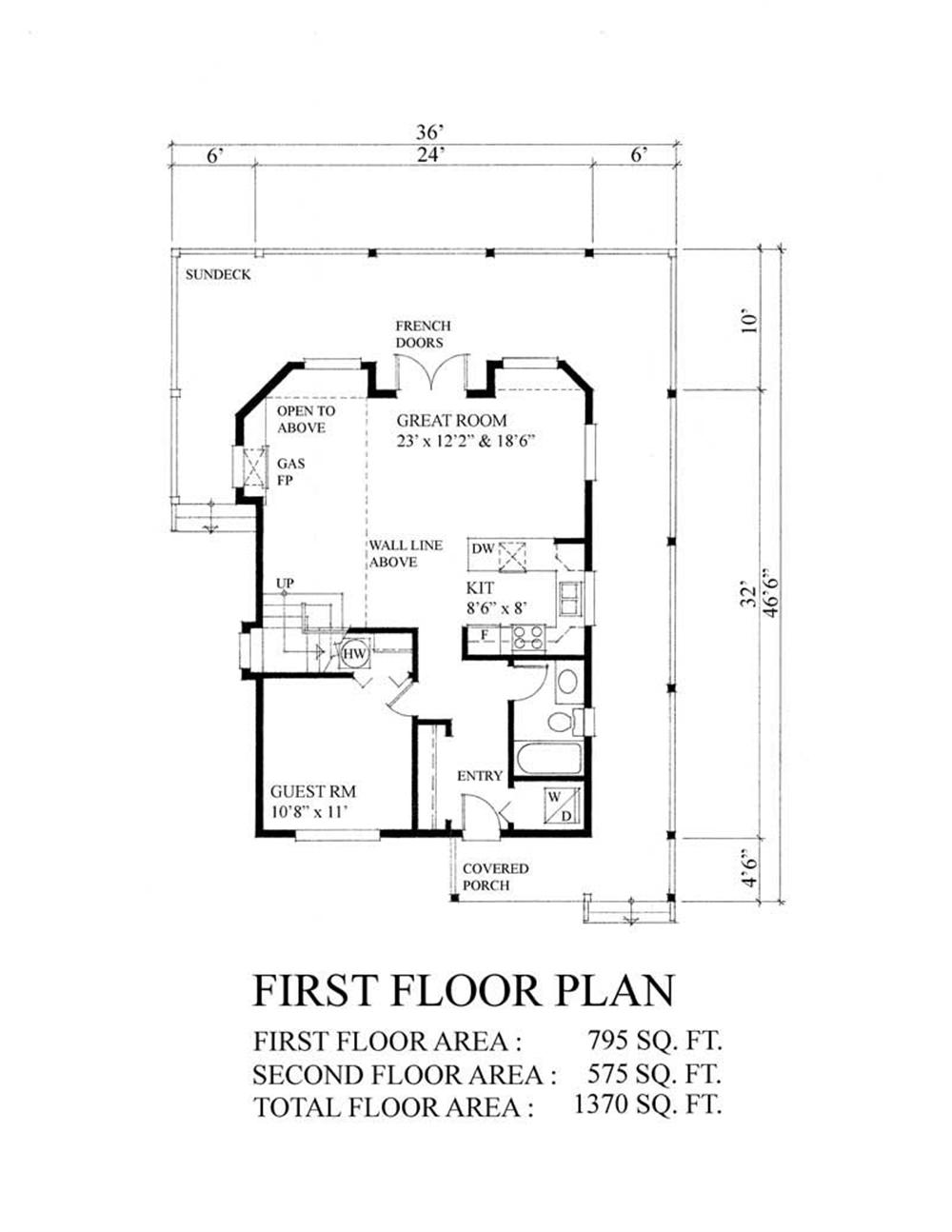 House Plan RS-1370 Main Floor Plan