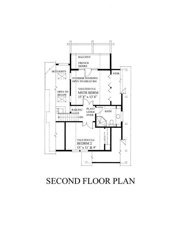 House Plan RS-1370 Second Floor Plan