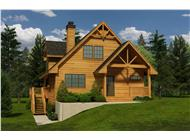 This is a computerized rendering of these log cabin house plans.