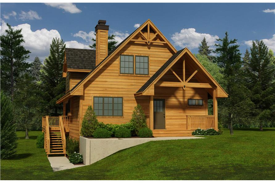 160 1018 This Is A Computerized Rendering Of These Log Cabin House Plans  Log Home House Plans
