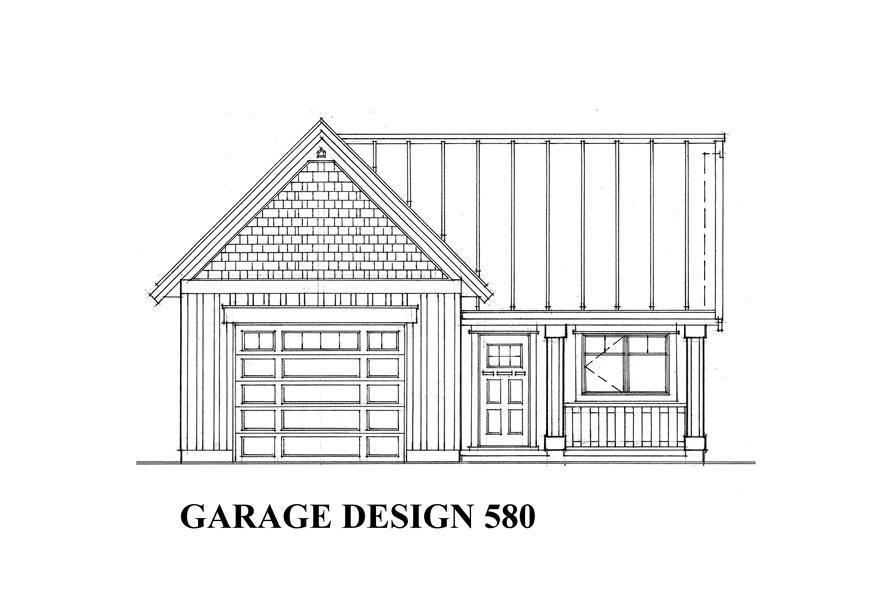 0-Bedroom, 580 Sq Ft Garage House Plan - 160-1019 - Front Exterior