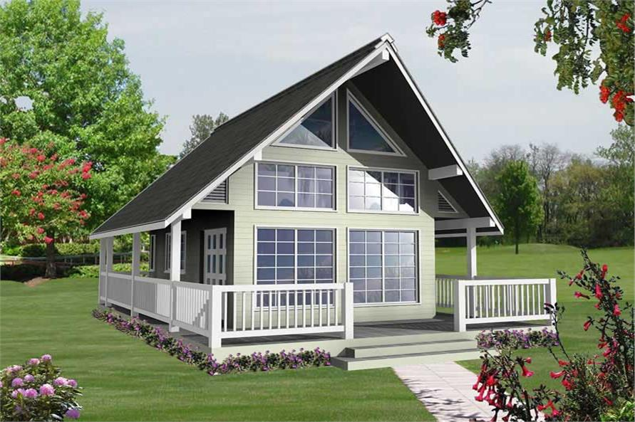 1-Bedroom, 582 Sq Ft Small House Plans - 160-1020 - Main Exterior