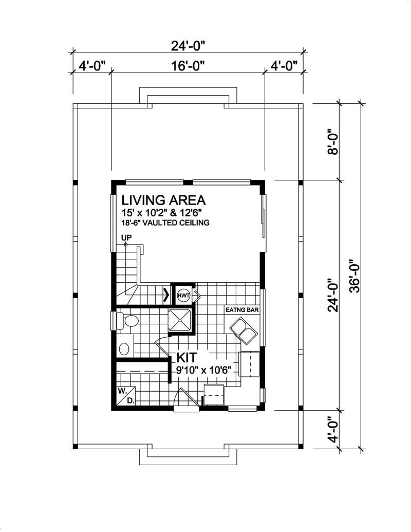 House Plan RS-584 Main Floor Plan
