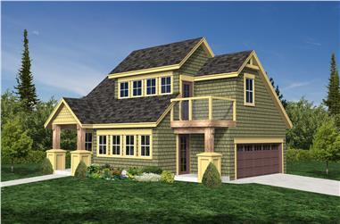 0-Bedroom, 476 Sq Ft Garage Home Plan - 160-1021 - Main Exterior
