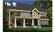 This is a computer rendering of these country house plans.