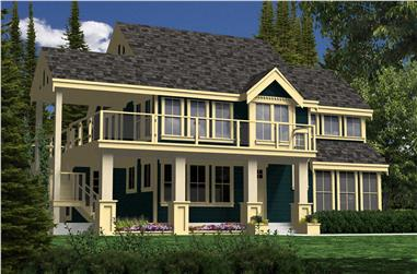 3-Bedroom, 1923 Sq Ft Country Home Plan - 160-1022 - Main Exterior