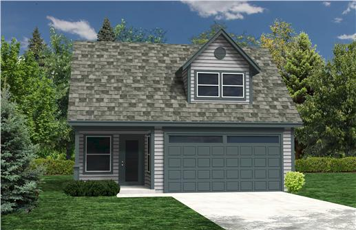 This is a computer rendering of these Garage Home Plans.