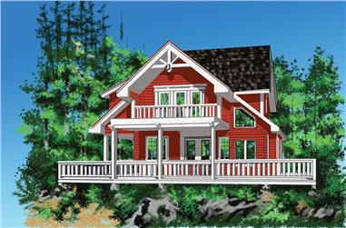 Front elevation of Cottage home (ThePlanCollection: House Plan #160-1025)
