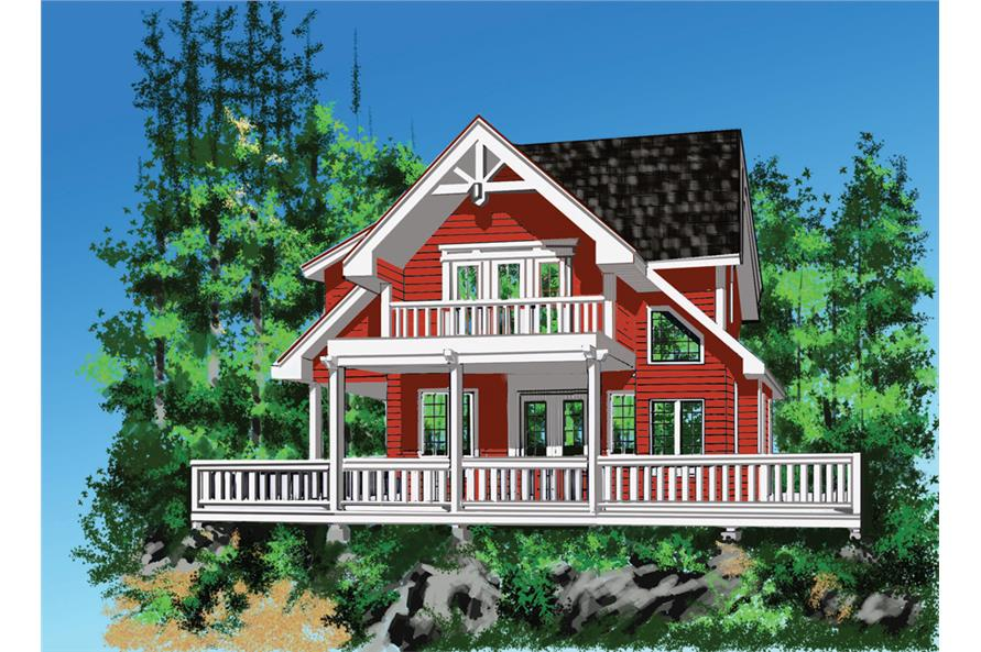 4-Bedroom, 2912 Sq Ft Vacation Homes Home Plan - 160-1025 - Main Exterior
