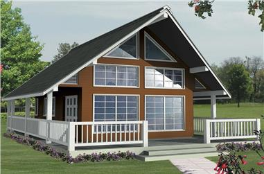 1-Bedroom, 1062 Sq Ft Contemporary House Plan - 160-1027 - Front Exterior
