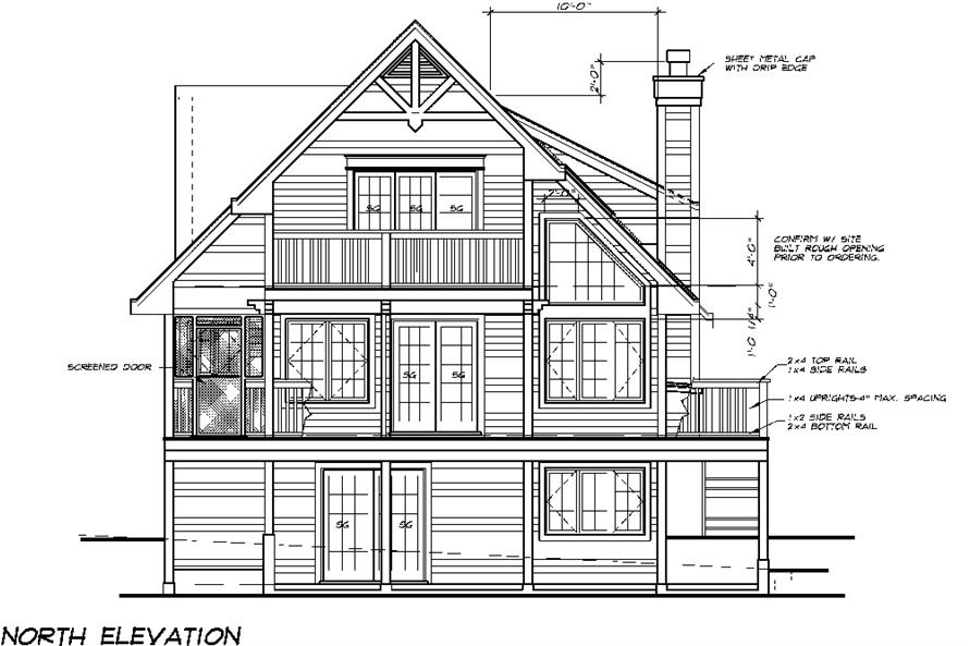 Home Plan Front Elevation of this 5-Bedroom,1662 Sq Ft Plan -160-1029