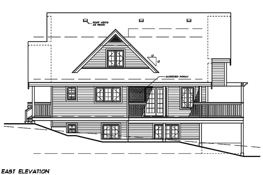 Home Plan Right Elevation of this 5-Bedroom,1662 Sq Ft Plan -160-1029