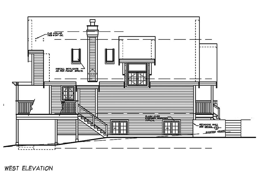 Home Plan Left Elevation of this 5-Bedroom,1662 Sq Ft Plan -160-1029