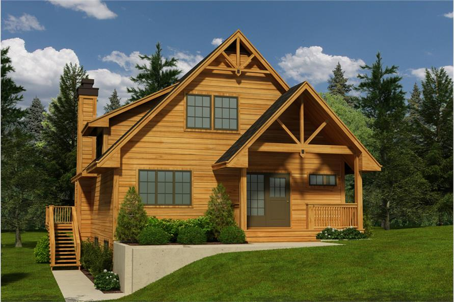 5-Bedroom, 1662 Sq Ft Cottage Home Plan - 160-1029 - Main Exterior