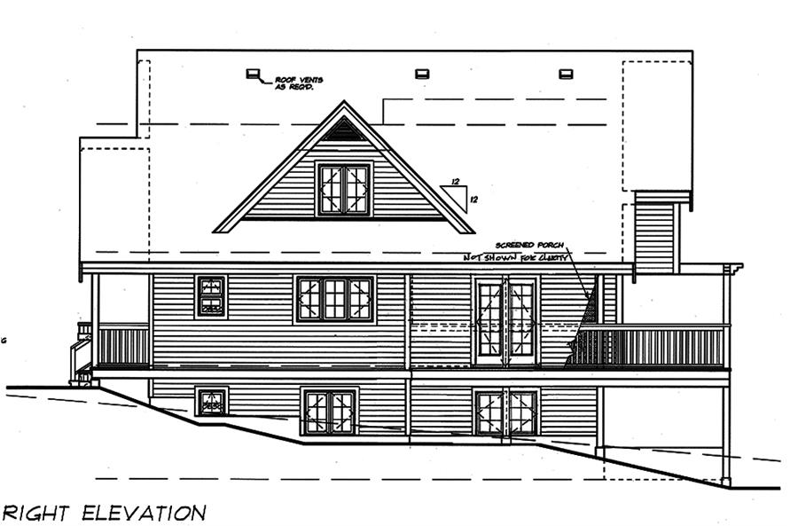 Home Plan Right Elevation of this 5-Bedroom,1674 Sq Ft Plan -160-1031