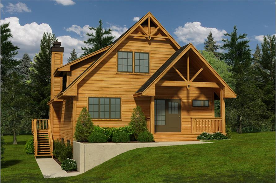 5-Bedroom, 1674 Sq Ft Contemporary Home Plan - 160-1031 - Main Exterior