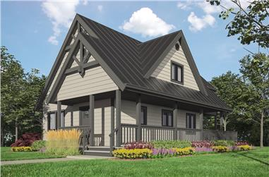 Cottage style home plan (ThePlanCollection: House Plan #160-1033)