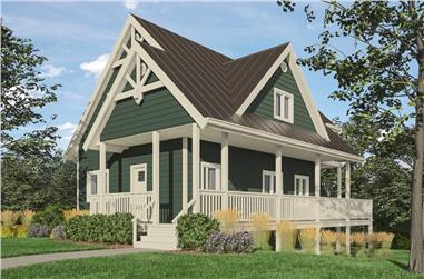 3-Bedroom, 1370 Sq Ft Cottage Home Plan - 160-1034 - Main Exterior