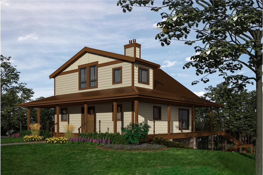 Home Plan Rendering of this 2-Bedroom,2432 Sq Ft Plan -160-1035