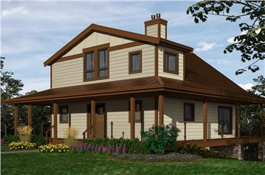 Cottage style home plan (ThePlanCollection: House Plan #160-1035)