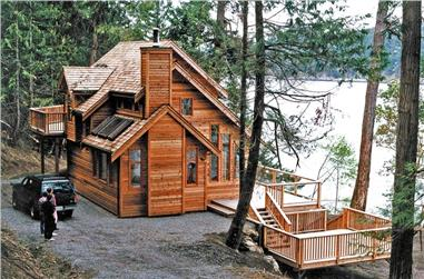 2-Bedroom, 1417 Sq Ft Vacation Home - Plan #160-1038 - Front Exterior