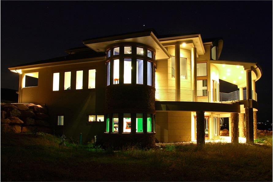 Home at Night of this 4-Bedroom,7563 Sq Ft Plan -7563