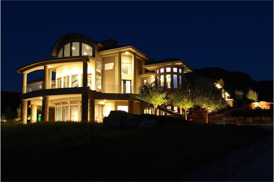 161-1000: Home Exterior Photograph-Home at Night