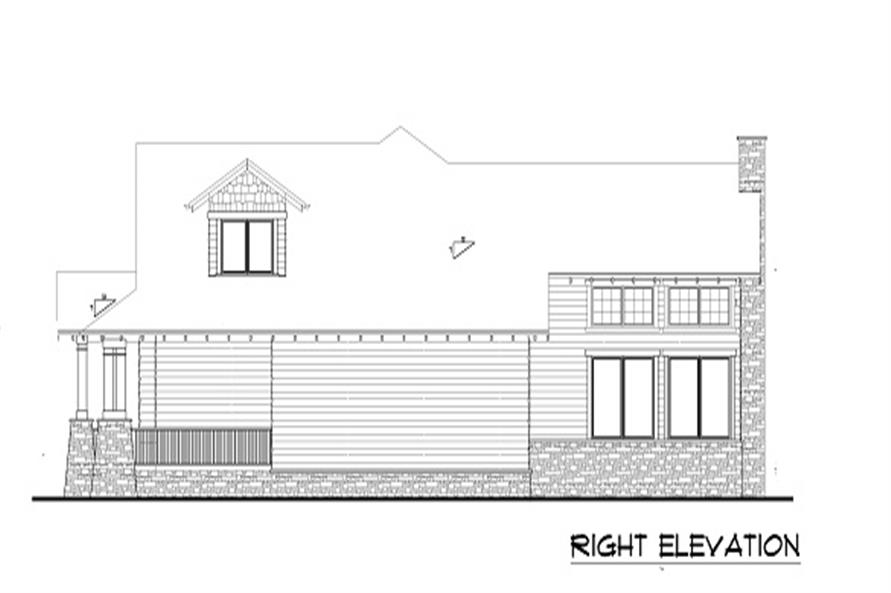 Home Plan Right Elevation of this 4-Bedroom,3339 Sq Ft Plan -161-1001