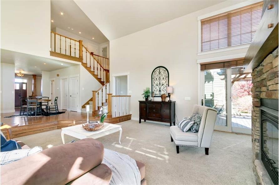 Great Room of this 4-Bedroom,3339 Sq Ft Plan -161-1001