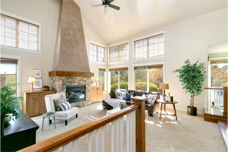 Great Room: Windows of this 4-Bedroom,3339 Sq Ft Plan -161-1001