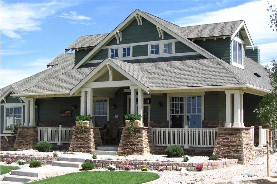 Arts & Crafts House Plan #161-1001