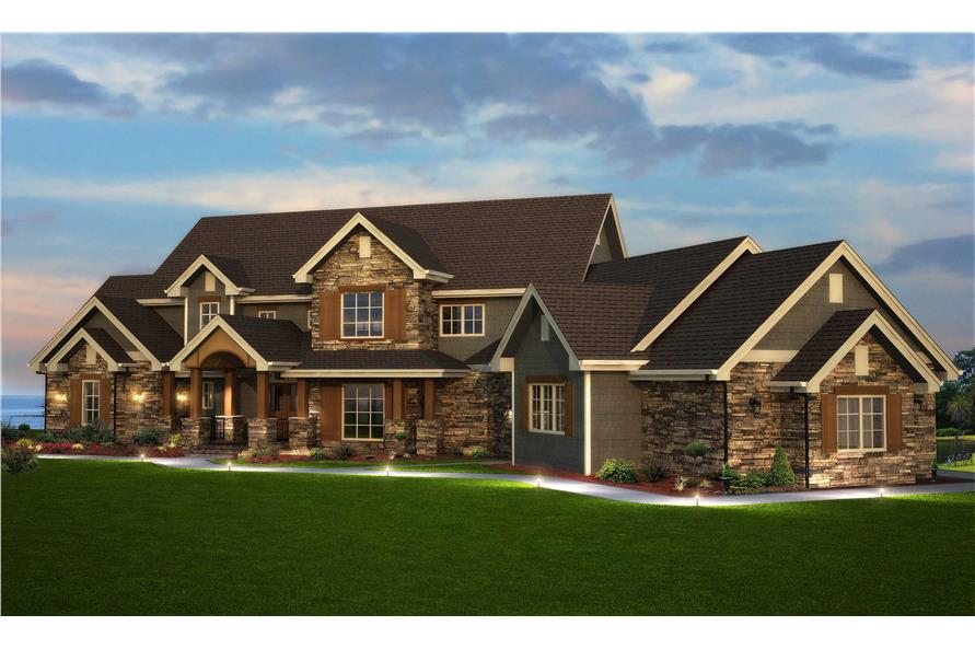 Traditional style home floor plan 161 1003 six bedrooms for 6 bedroom homes