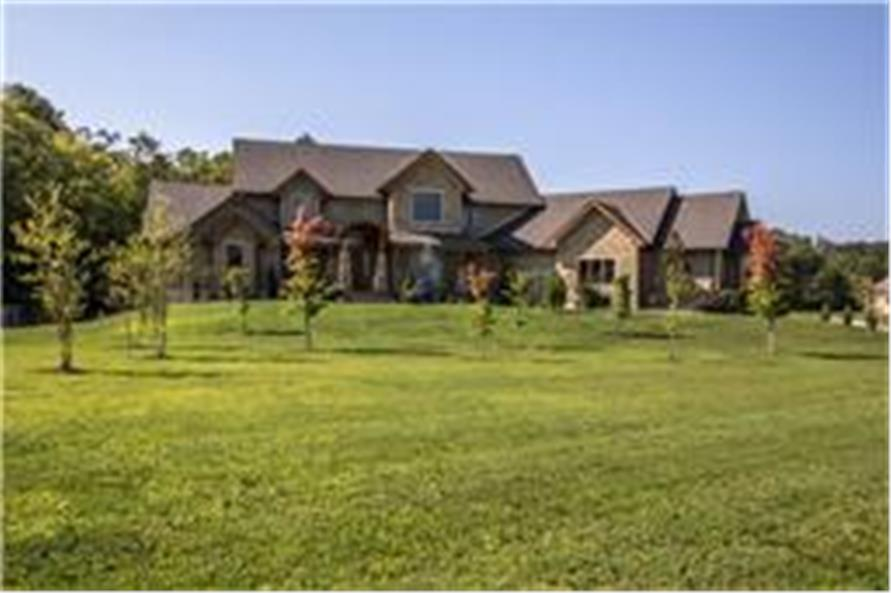 Landscaping of this 5-Bedroom,5164 Sq Ft Plan -5164
