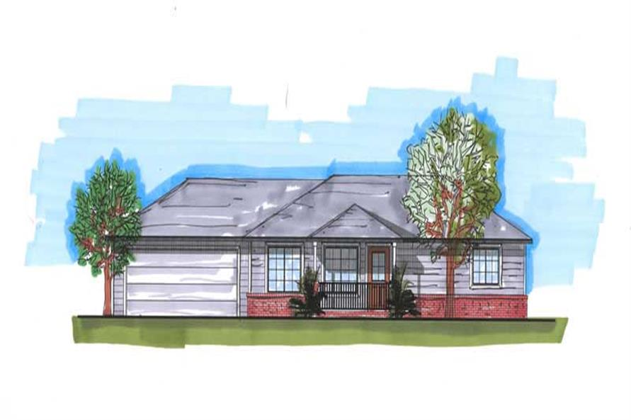 3-Bedroom, 1920 Sq Ft Ranch House Plan - 161-1009 - Front Exterior