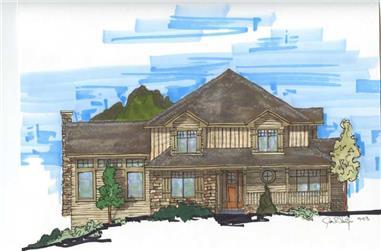 4-Bedroom, 3144 Sq Ft Craftsman House Plan - 161-1011 - Front Exterior